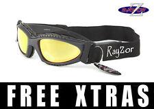RAYZOR UV400 (2in1) Esquí Tabla Nieve Gafas de sol gafas ORO lente de espejo