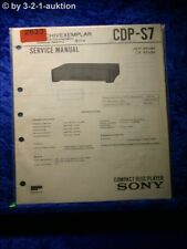 Sony Service Manual CDP S7 CD Player (#2633)