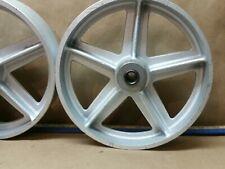 Antique Style 8x2 Industrial Type Flywheel Engine Cart Wheels
