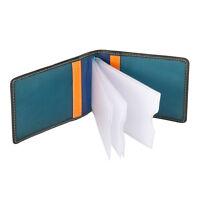 DuDu Porta carte di credito in pelle Unisex Nero Multicolore con 10 scomparti