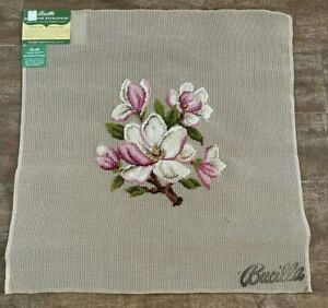"""Bucilla Needlepoint Floral Seat Cover 23"""" picture Pre-worked blossom Sextet"""