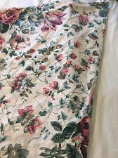 """WAVERLY Fieldcrest Floral Vintage Rose REVERSIBLE Valance Swag 168"""" X 44"""""""