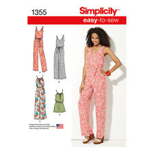 Simplicity Easy 2 Sew Sewing Pattern 1355 Maxi Dress Long/Short Jumpsuit XXS-XXL