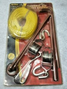 Allen Gambrel Hoist Kit Pulley Hook Rope Construction up to 440 lbs 181A New