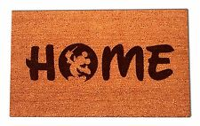 Disney Mickey Mouse Home Laser Engraved Door Mat, 100% Natural Coir Fiber
