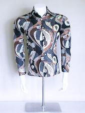 vtg 70s ska psychedelic boho mod OP ART indie soul hippy polkadot disco shirt M
