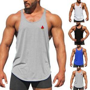 Mens Gym Tank Top Muscle Stringer Bodybuilding Fitness Singlets Sleeveless Vest