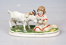 Russische Porzellanfigur Mädchen mit Ziege Porzellan Russland