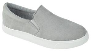 Soda Flat Women Shoe Slip On Loafers Casual Sneakers Memory Foam Gray REIGN-G