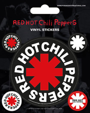 Red Hot Chili Peppers Vinyl Sticker - 1 sheet, 5 stickers