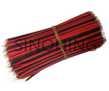 10pcs 10cm 2 pin 22AWG wire cable 100mm LED DIY strip cable red black color wire