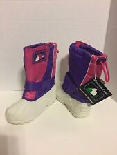Mountain Creek Bangor Kids Winter Insulated Snow Boots US 1M Purple Pink Pull On