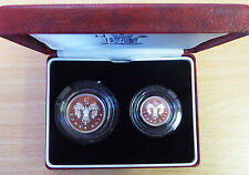 GB 1990 ARGENTO PROOF Five Pence Due Coin Set (in scatola con certificato).....