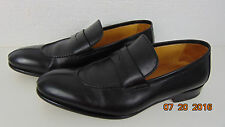 "GORGEOUS BRUNO MAGLI ""ITALY MADE""LEATHER LOAFERS 8 M Black Leather Sole"