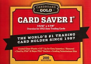 Cardboard Gold Card Saver 1 - 10 | 20 | 50 | 100 | 200 Holders PSA BGS-UK SELLER