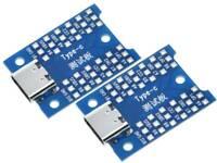2 pcs USB-C Breakout Board USB Type C Interface Adapter