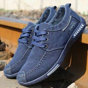 Zapatos antideslizantes con cordones para hombre Zapatillas de deporte de gran t