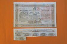 RUSSIAN BOND CHEMIN DE FER DE MOSCOU SMOLENSK 200 THALERS 1869 + COUPONS