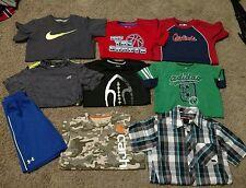 Lot Of 9 Boys Size 7-8 Summer Clothes Under Armour Adidas Nike Carhartt EUC