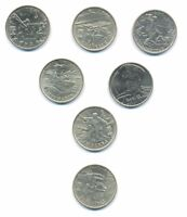 7pcs set of Russia 2 Roubles 2000-2001 Commemorative Coins rare jubilee