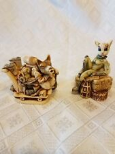 Harmony Kingdom Wolfie In Space and Minx On The Moon 2 Special Pieces
