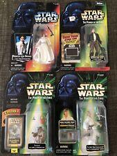 Star Wars Action Figures - Luke, Leia, Yoda, Han Solo - Hasbro, Kenner- 90's