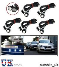 10 X 12V CAR BIKE 4X4 WHITE LED 18MM EAGLE EYE DAYTIME RUNNING DRL LIGHTS