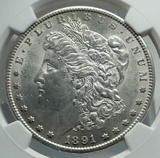 1891 S UNITED STATES of America SILVER Morgan US Dollar Coin EAGLE NGC i79693