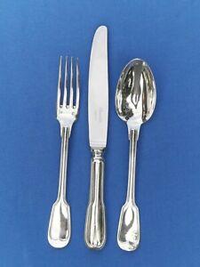 Set Menübesteck 3-tlg CHRISTOFLE Modell CHINON Silberauflage Gebraucht Gepflegt