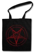 BAPHOMET PENTAGRAM SIGN Hipster Shopping Cotton Bag Aleister Crowley Pentagramm