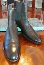 6590bb159aa Gucci Brown Calfskin Leather Chelsea Boots Sz 8.5D