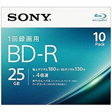 10 Sony BD-R 25Gb 4x Printable Blu-ray Disc Blank Disc Inkjet japan