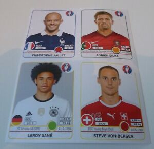 PANINI Euro 2016 Update Sheet with Leroy Sane rookie sticker 256x MINT