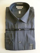 NEW Men's VAN HEUSEN Smoky Gray Dress Shirt size 17 XL 32/33 stripes