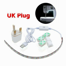 DC 5V 2M 6500K LED Sewing Machine Light Strip Lighting with Touch Dimmer UK Plug
