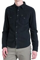 LEE New Mens Western Denim Shirt New Men's Black Jean Shirts Slim Fit