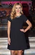 Ted Baker Black Embellished Crystal Collar Fit & Flare Dress Wedding Party 1 8