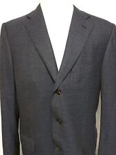 Ermenegildo Zegna '15 MILMIL 15'  Blue Navy Houndstooth Suit Coat 100% Wool 54L