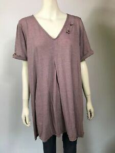 VIGORELLA size L NWOT's purple marle bamboo relaxed fitted dress RRP $149