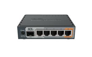 Mikrotik hEX S RB760iGS Ethernet Router 5xGbit LAN, 1xPOE, 1xSFP, 880Mhz CPU USB