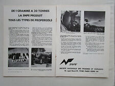 7/1978 PUB SNPE POUDRES ET EXPLOSIFS PROPERGOLS EUROMISSILE ROLAND FRENCH AD