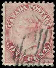 Canada #14 used VG-F 1859 First Cents 1c rose Queen Victoria Duplex CV$30.00