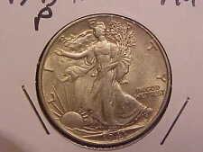 1943 P LIBERTY WALKING HALF DOLLAR - AU - SEE PICS! - (N4344)