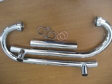 VINTAGE BMW R60-R60/2 NEW PAIR OF BEAUTIFUL CHROME EXHAUST HEADER PACKAGE