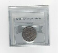 **1944**, Coin Mart Graded Canadian, 25 Cent, **VF-30**