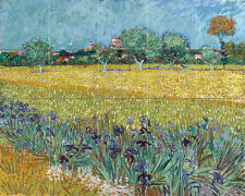 30 x 24 Art Van Gogh FIELD of IRISES Mural Ceramic Backsplash Tile #3000