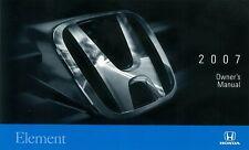 Bishko OEM Maintenance Owner's Manual Bound for Honda Element 2007