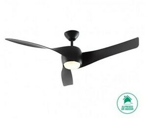 "Beacon design ceiling fan light Artemis Black 147 cm / 58"" with remote control"