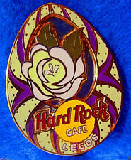 LEEDS UK EASTER EGG SERIES WHITE ROSE YORKSHIRE Hard Rock Cafe PIN FREE SHIP