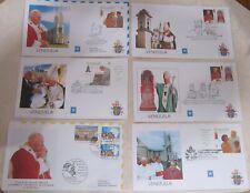 15 Pope John Paul Ii Latin America 1996-13 First Golden Covers & 1995 Arafat Vgc